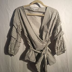 Striped Wrap Shirt